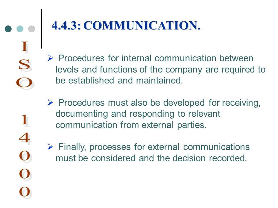 4.4.3: COMMUNICATION.