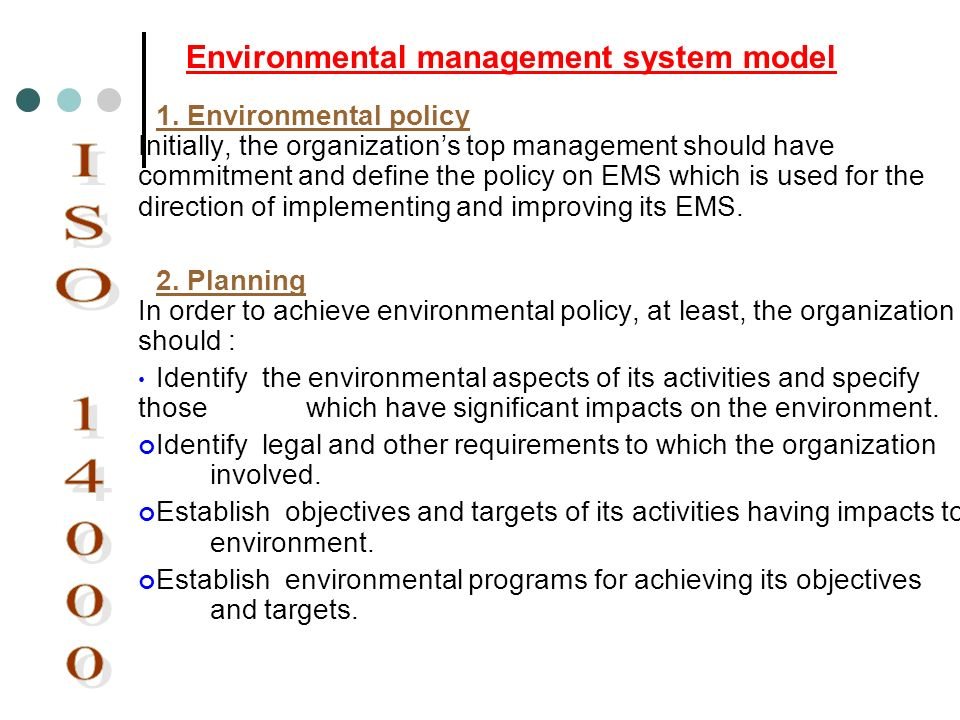 ISO 14000 Environmental management system model