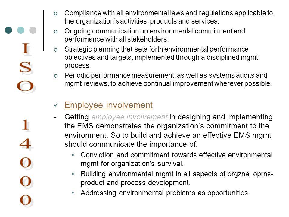 ISO 14000 Employee involvement