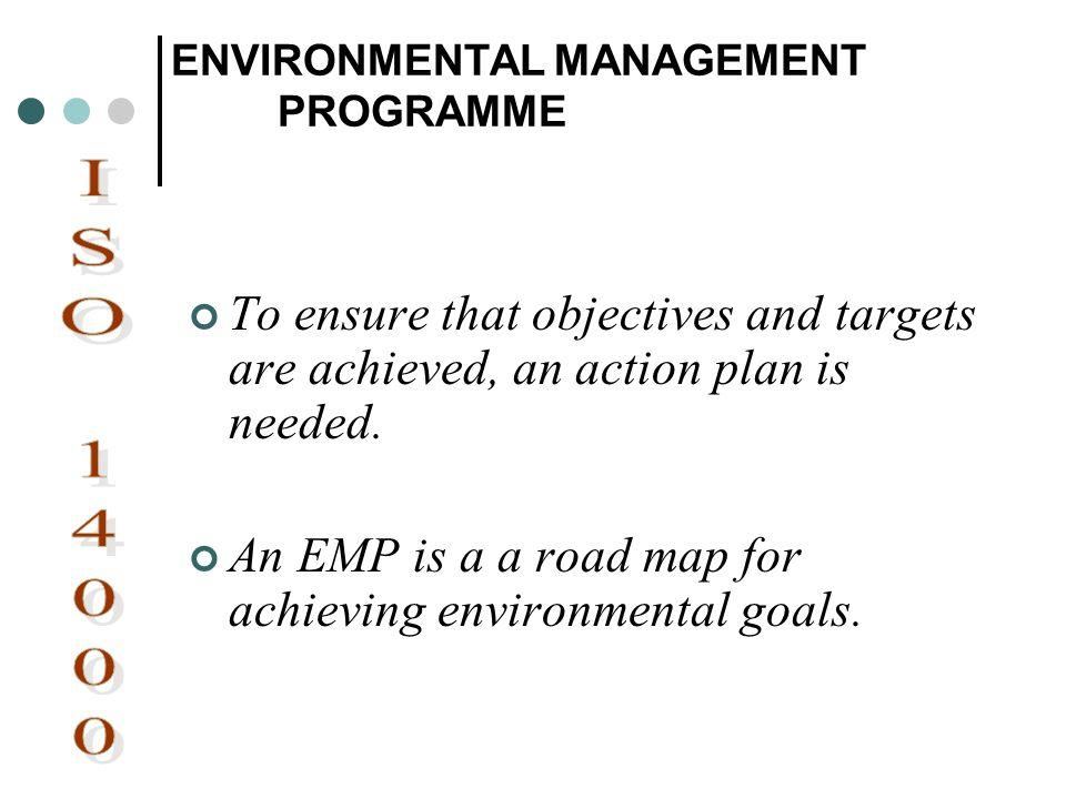 ENVIRONMENTAL MANAGEMENT PROGRAMME