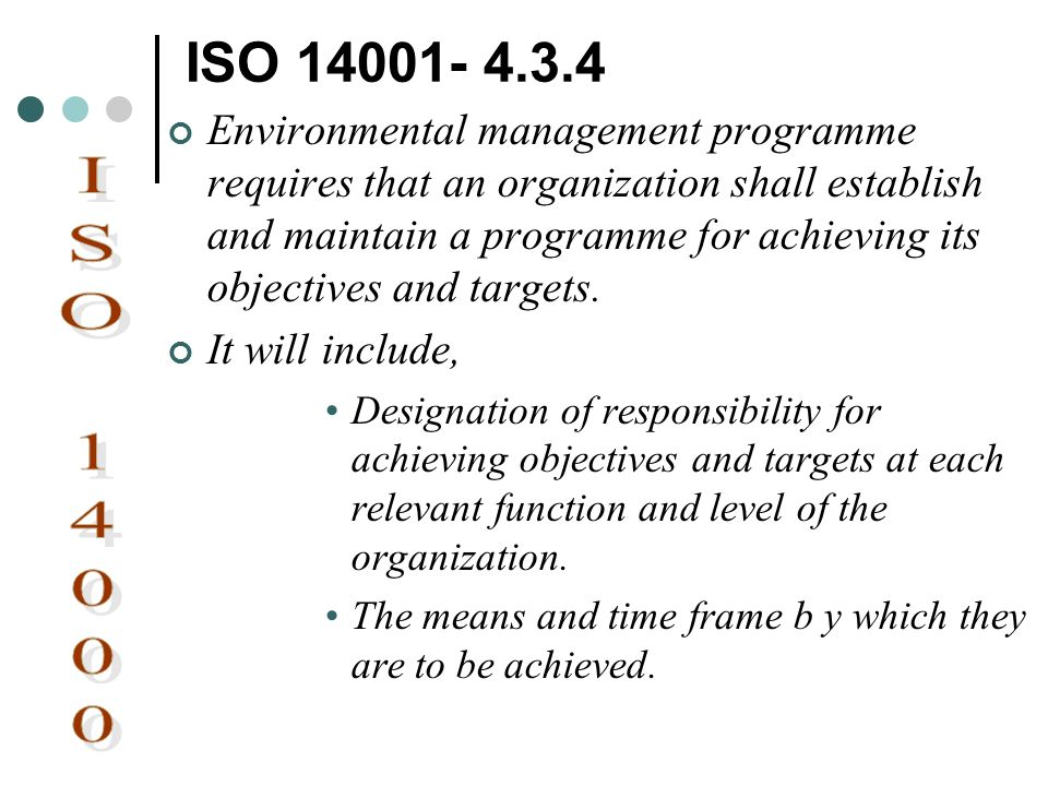 ISO 14001- 4.3.4