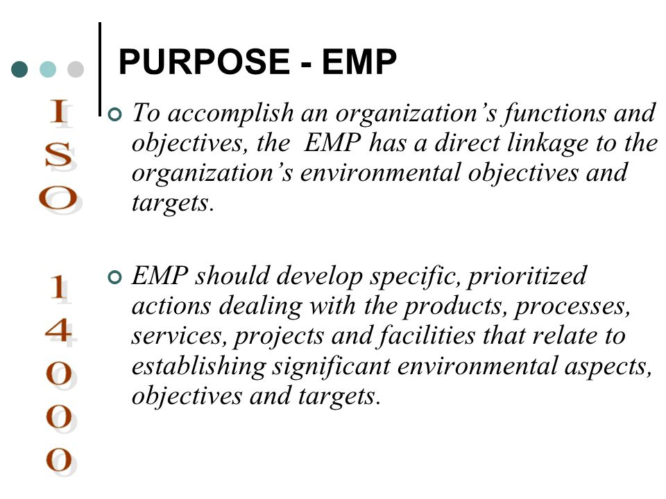 PURPOSE - EMP