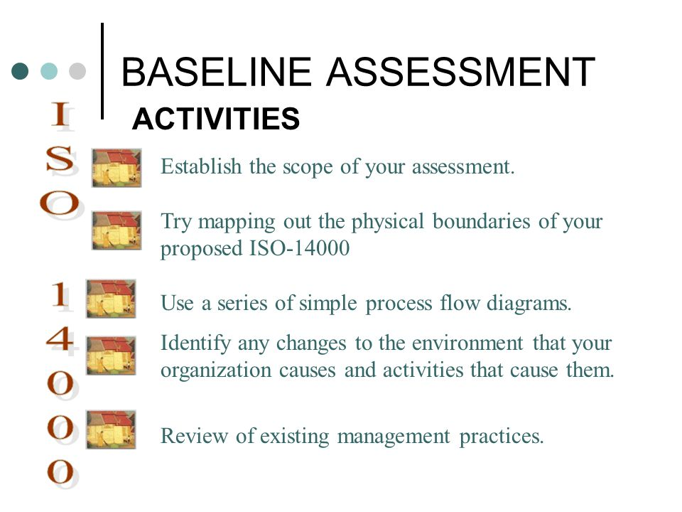BASELINE ASSESSMENT ISO ACTIVITIES