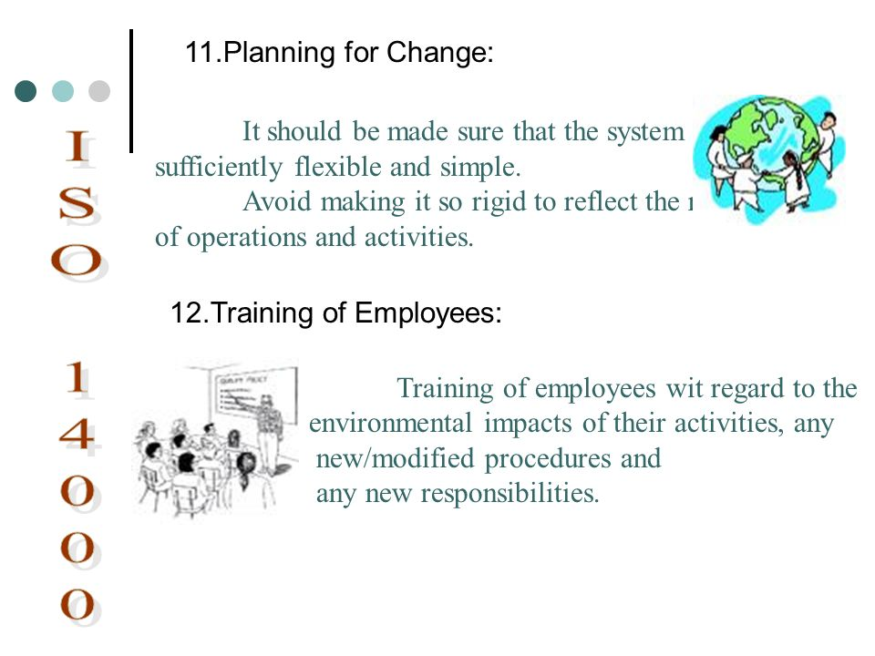 ISO Planning for Change: