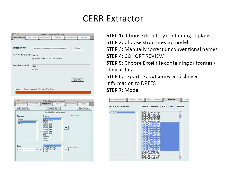 CERR Extractor STEP 1: Choose directory containing Tx plans
