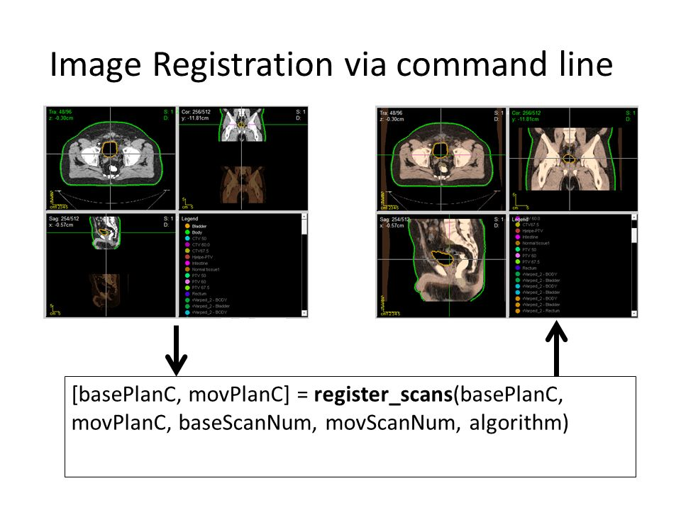 Image Registration via command line