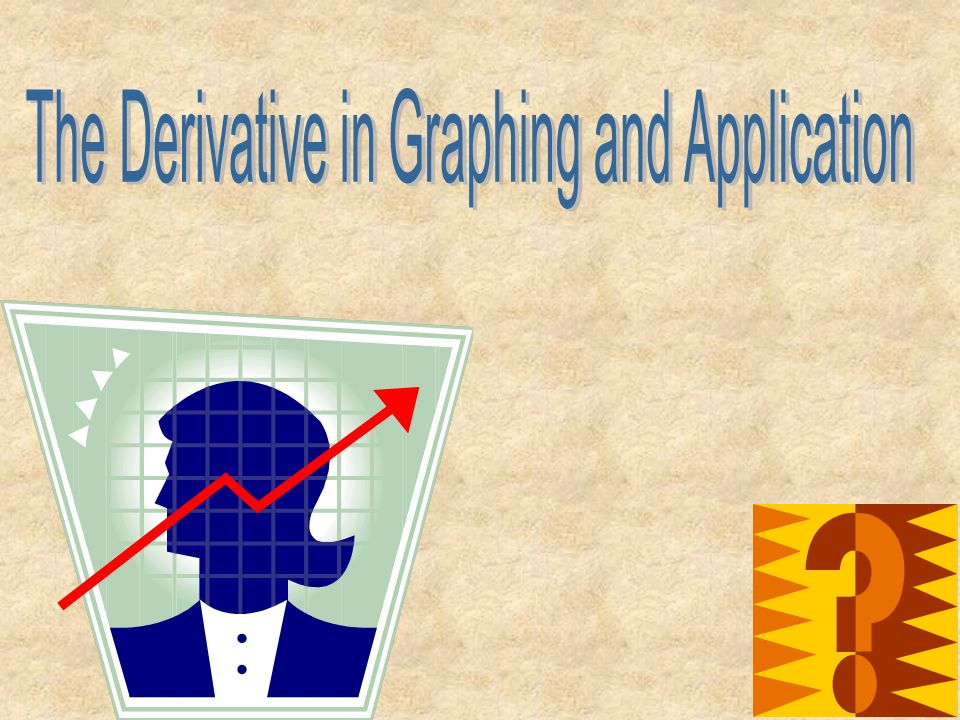 The Derivative in Graphing and Application