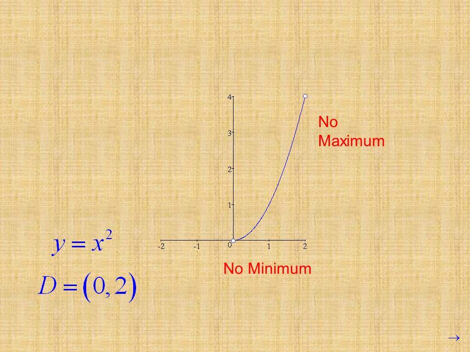 No Maximum No Minimum