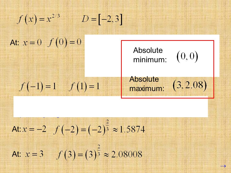 At: To determine if this critical point is. actually a maximum or minimum, we. try points on either side, without.