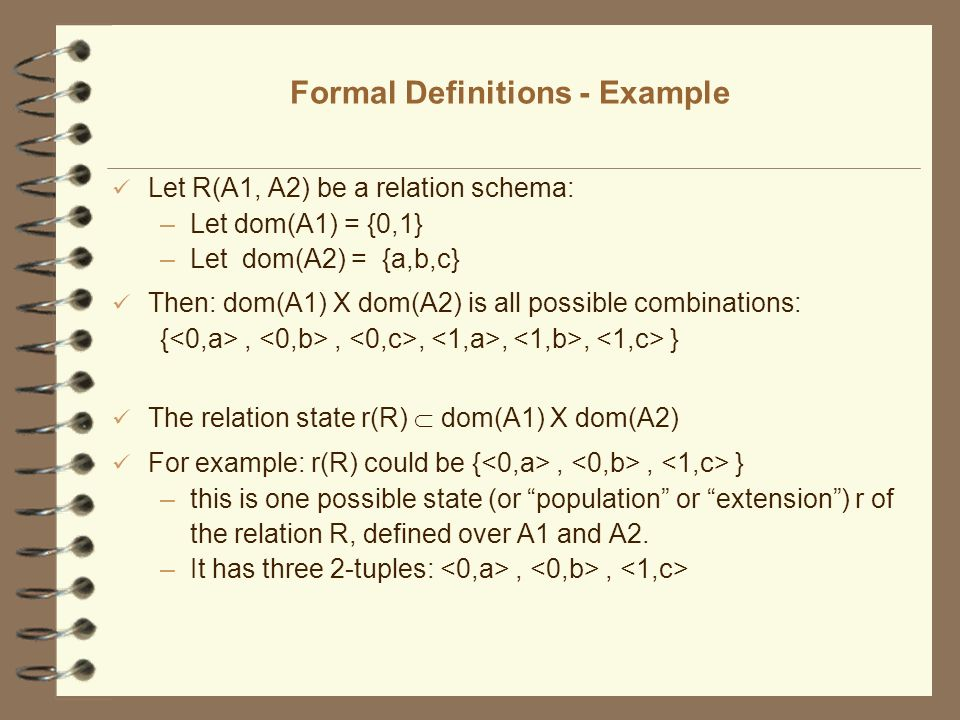 Formal Definitions - Example