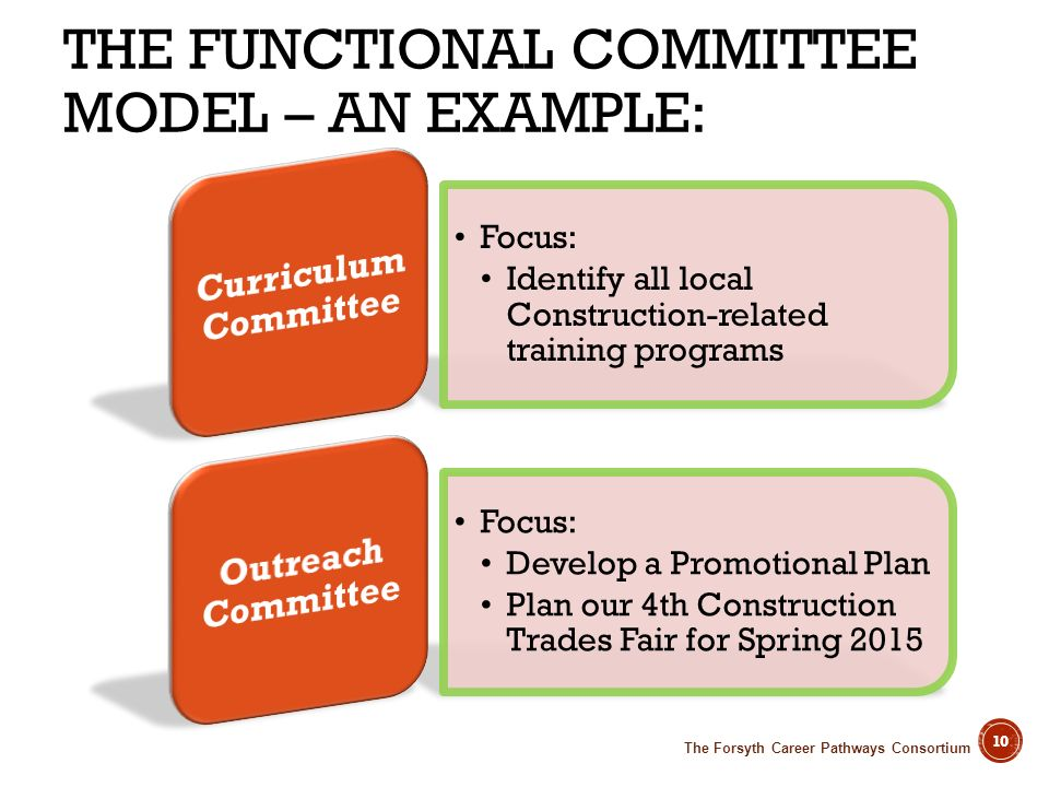 The Functional Committee Model – An example: