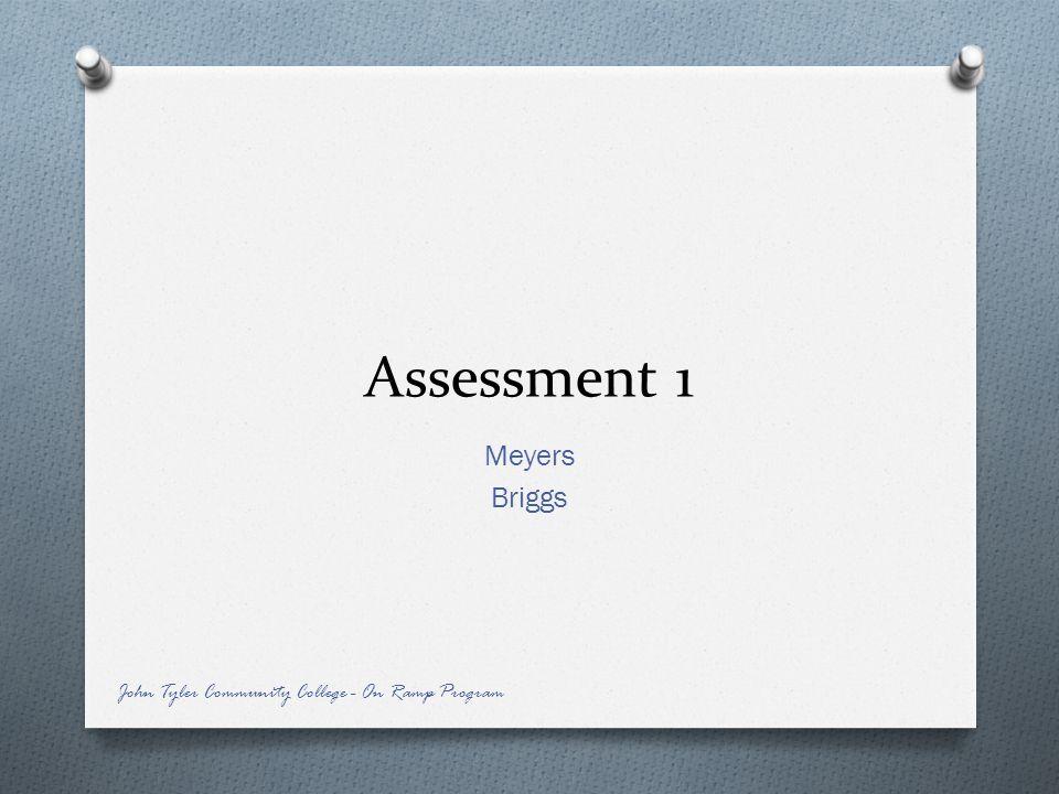 Assessment 1 Meyers Briggs