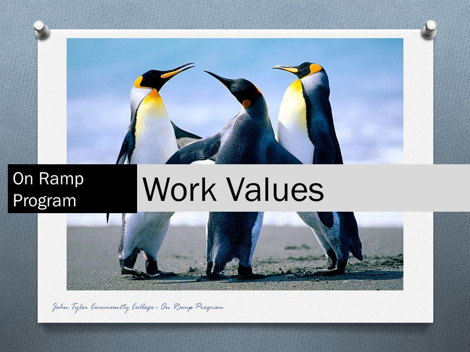 Work Values On Ramp Program