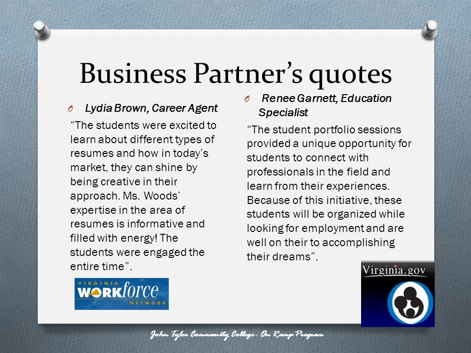 Business Partner's quotes