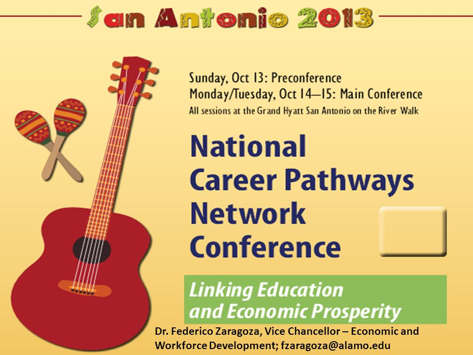 It is a great honor and privilege to welcome the over 2,000 individuals that have come to San Antonio to participate in the National Career Pathway Network Conference. I want to thank Debbie Miller our new National Director, the NCPN conference planning committee and especially David Bond, who has been our Executive Director and who is responsible for transforming NCPN into the premier CTE organization n the America . I am also a big fan of CORD so I am pleased to share the stage with their CEO Mr. Dick Hinckley.
