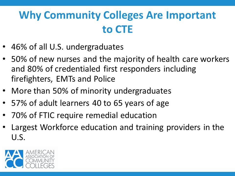 Why Community Colleges Are Important to CTE