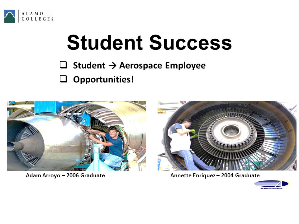 Student Success Student → Aerospace Employee Opportunities!