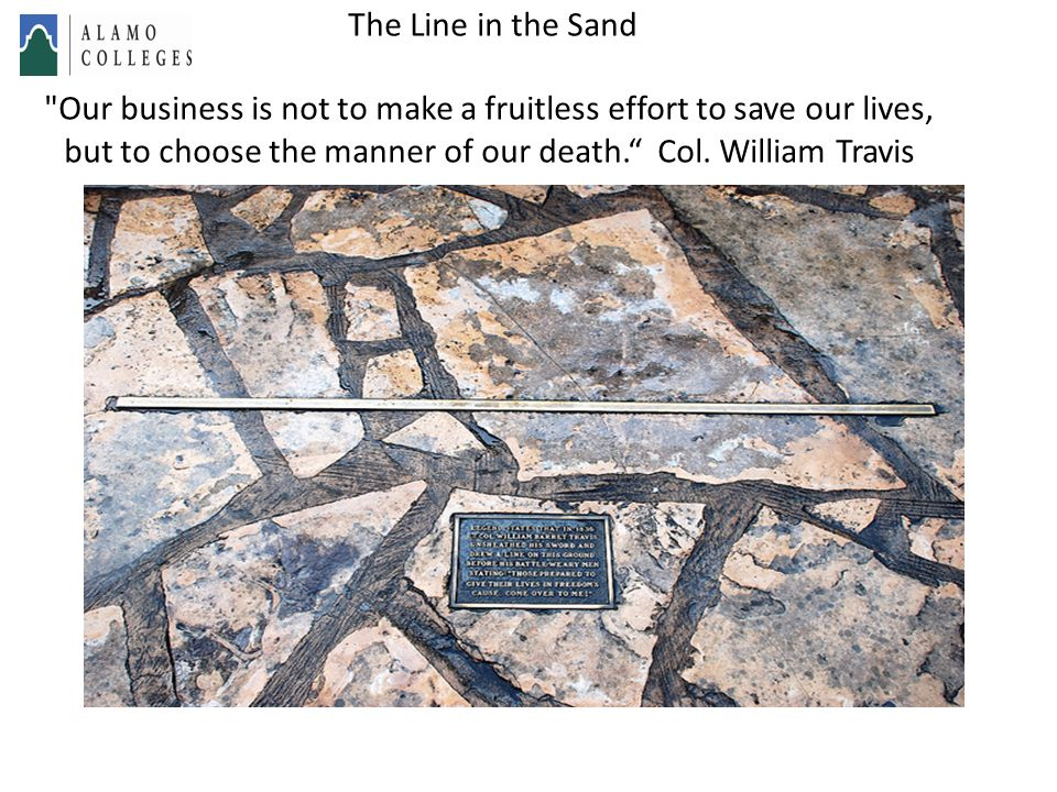 This is also where The line-in-the-sand metaphor originated.