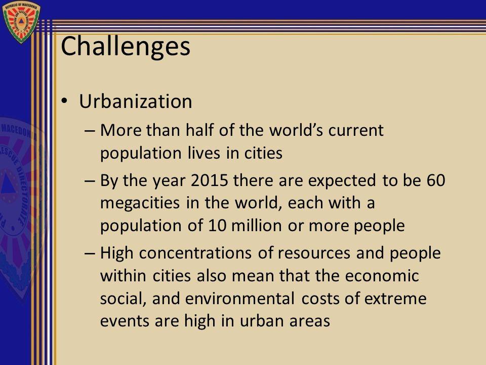 Challenges Urbanization ,