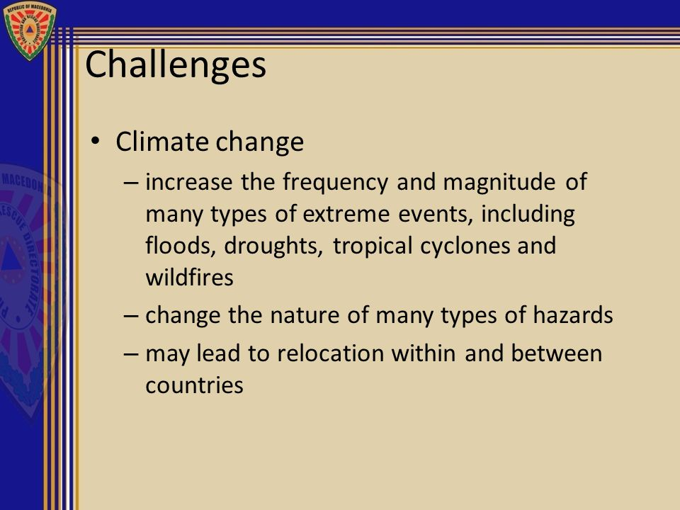 Challenges Climate change