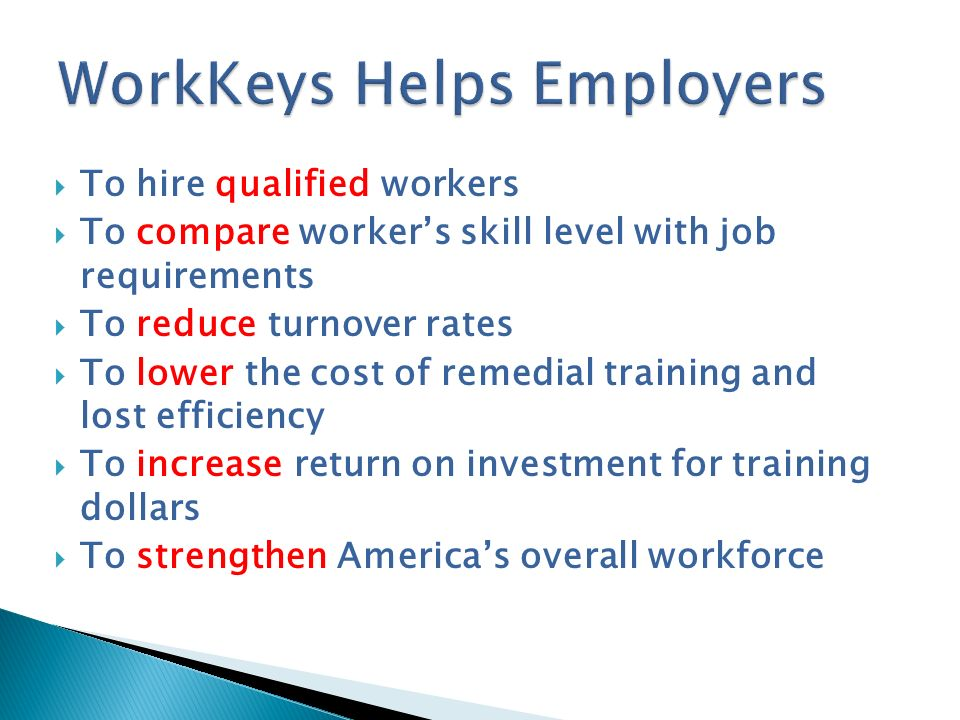 WorkKeys Helps Employers
