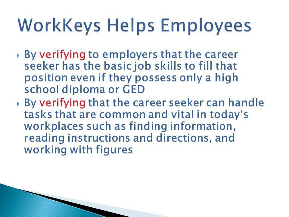 WorkKeys Helps Employees