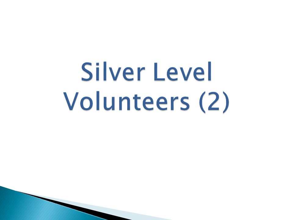 Silver Level Volunteers (2)