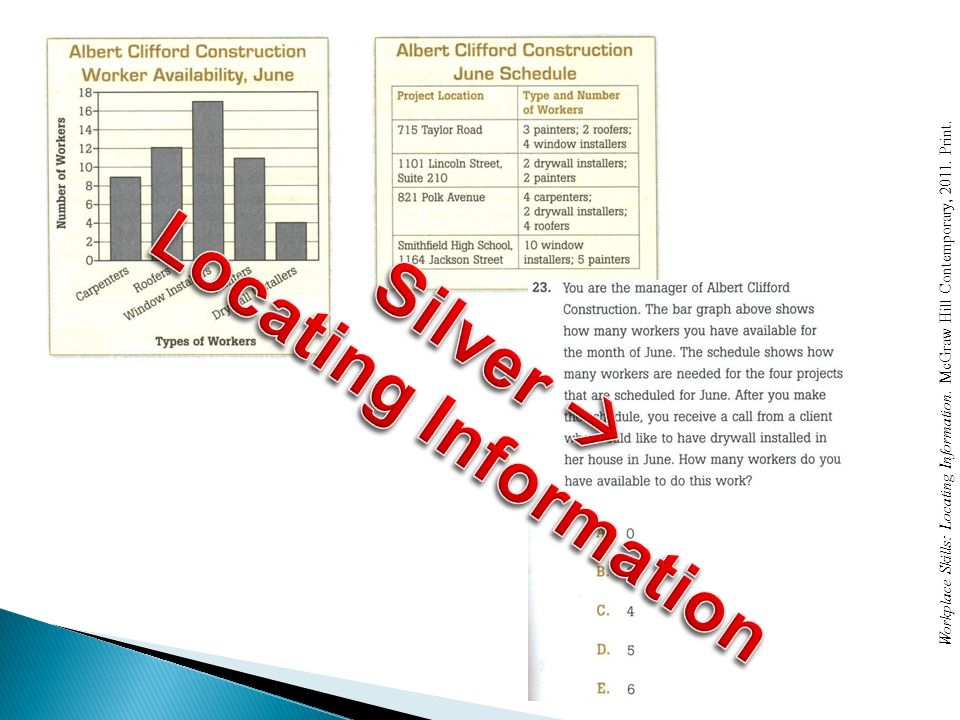 Locating Information Silver 