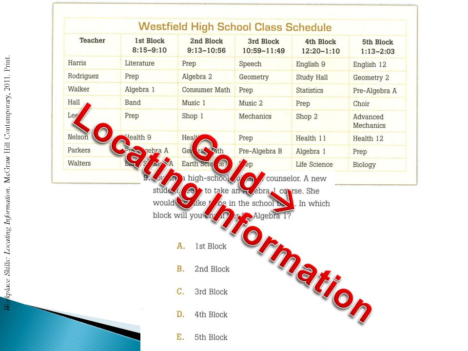 Locating Information Gold 