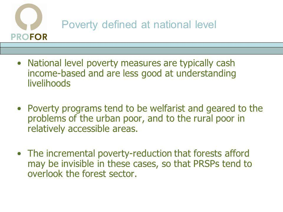 Poverty defined at national level
