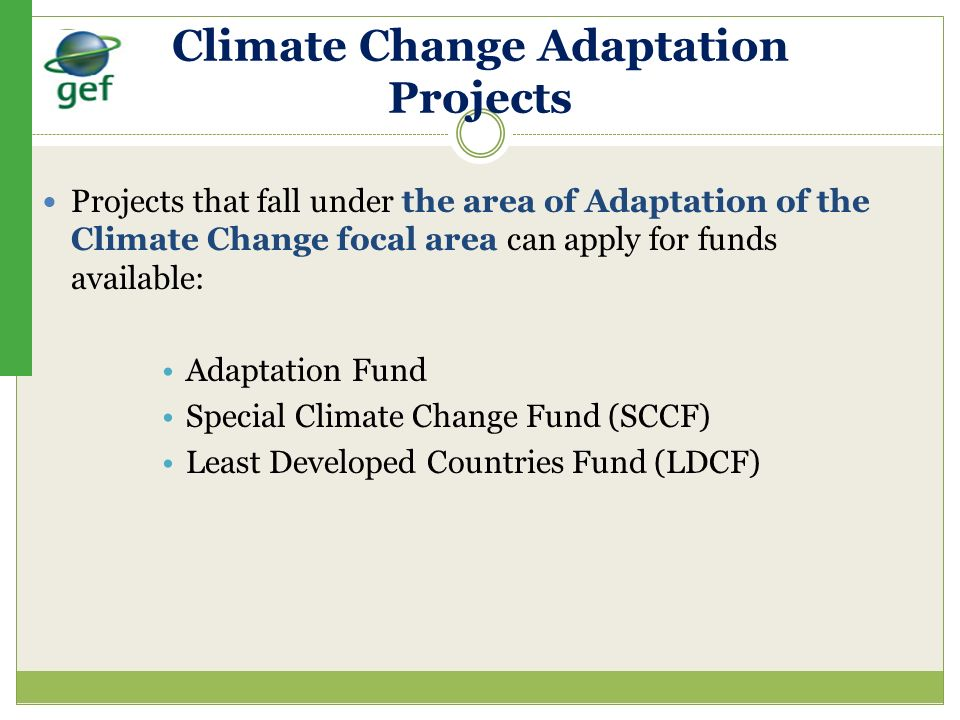 Climate Change Adaptation Projects