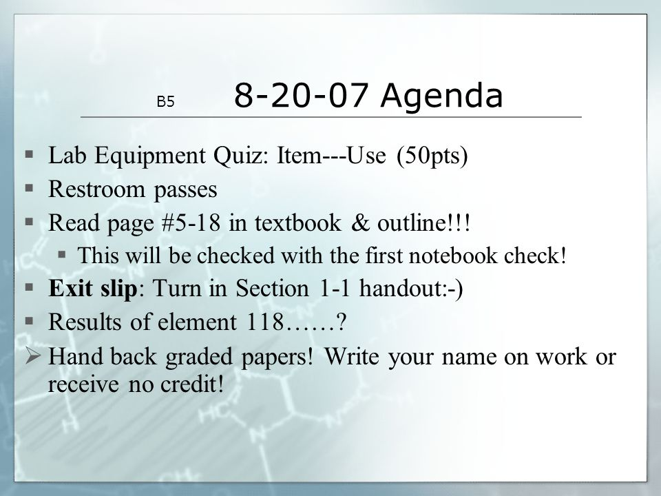 Pre-test on Matter and Energy Start: Safety equipment PowerPoint ...
