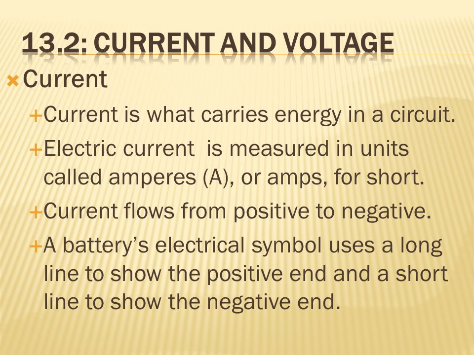13.2: Current and Voltage Current