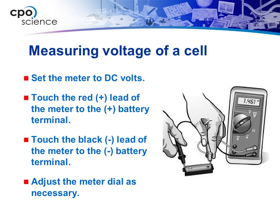 Measuring voltage of a cell