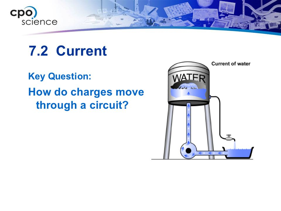 7.2 Current Key Question: How do charges move through a circuit