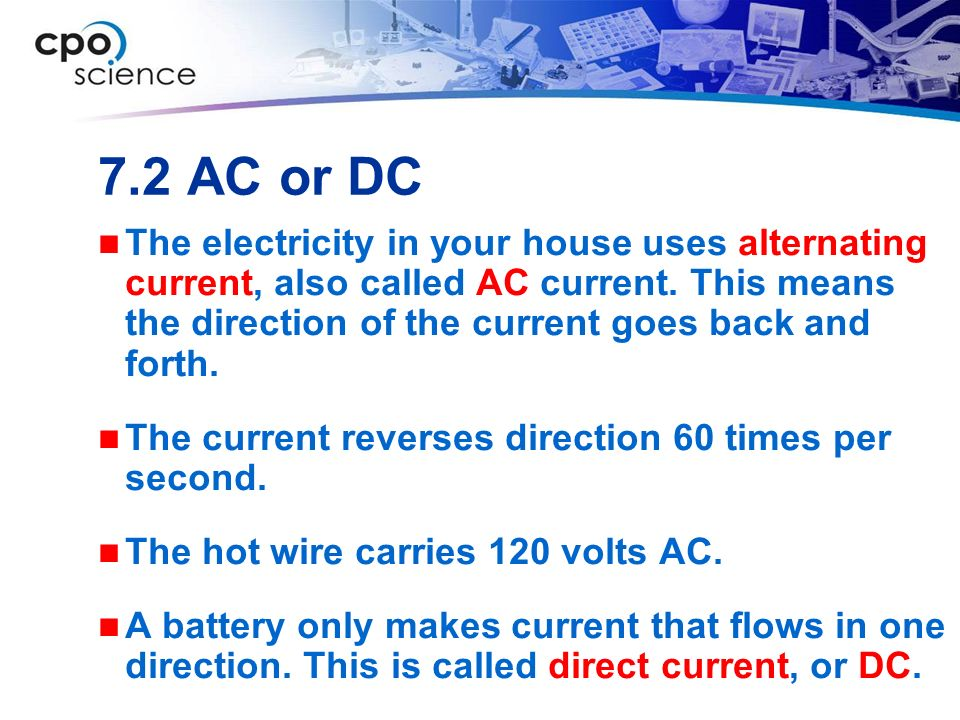 7.2 AC or DC