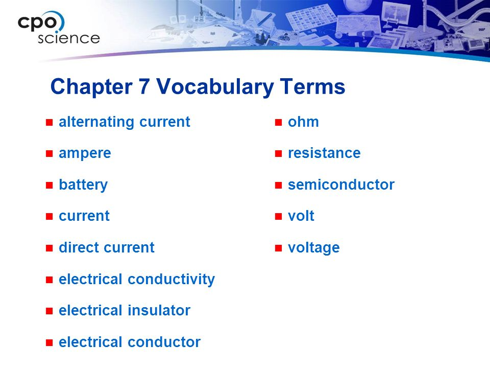 Chapter 7 Vocabulary Terms