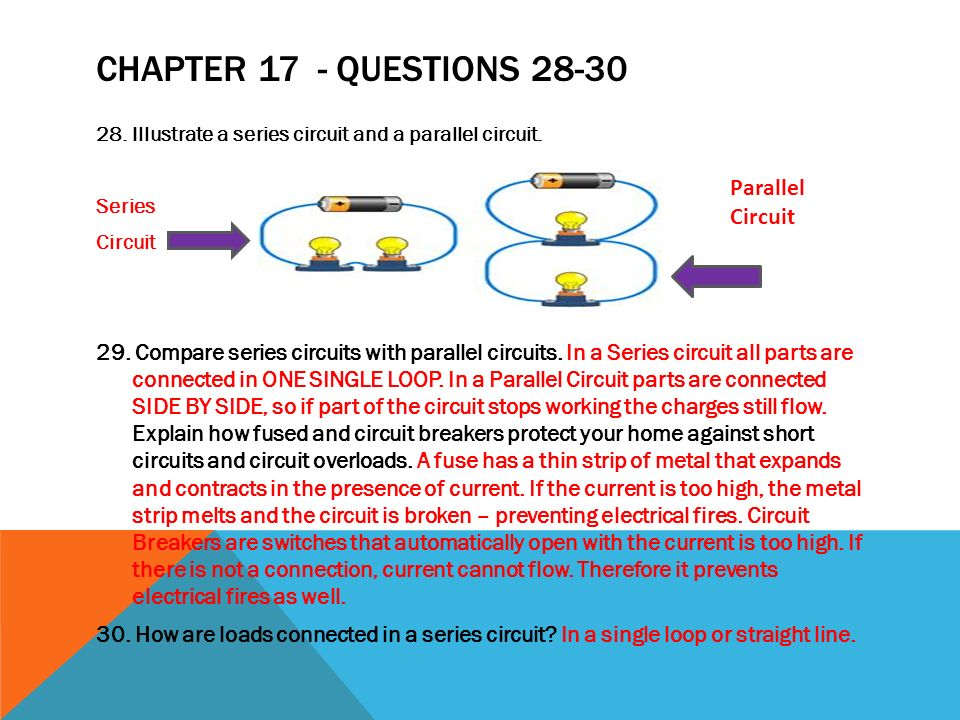 Chapter 17 - Questions Parallel Circuit
