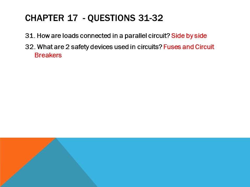 Chapter 17 - Questions 31-32