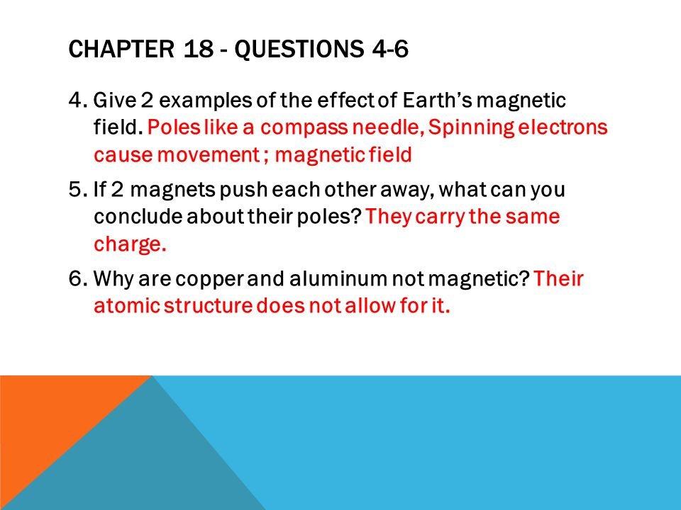 Chapter 18 - Questions 4-6