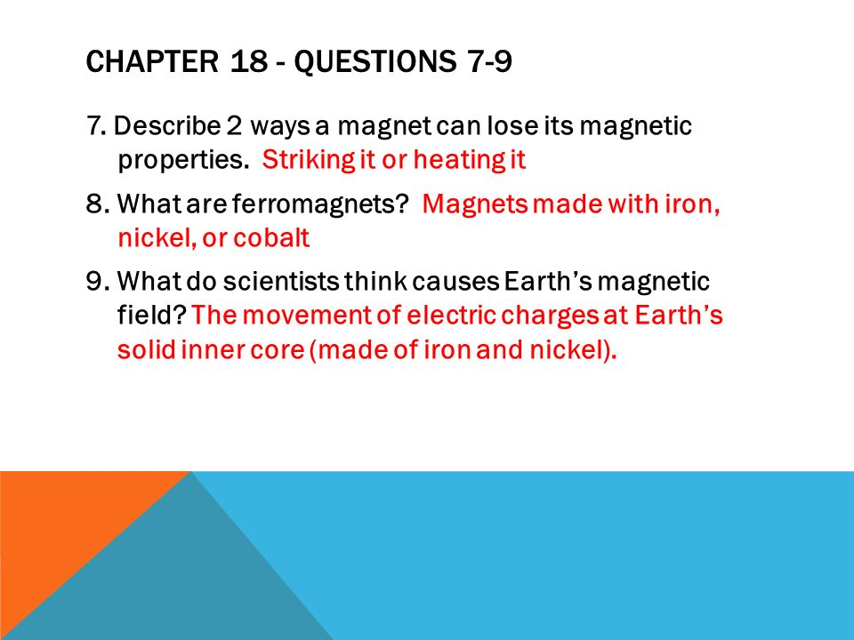 Chapter 18 - Questions 7-9
