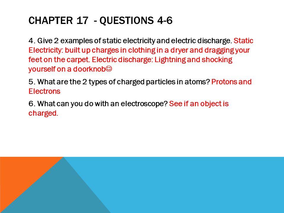 Chapter 17 - Questions 4-6