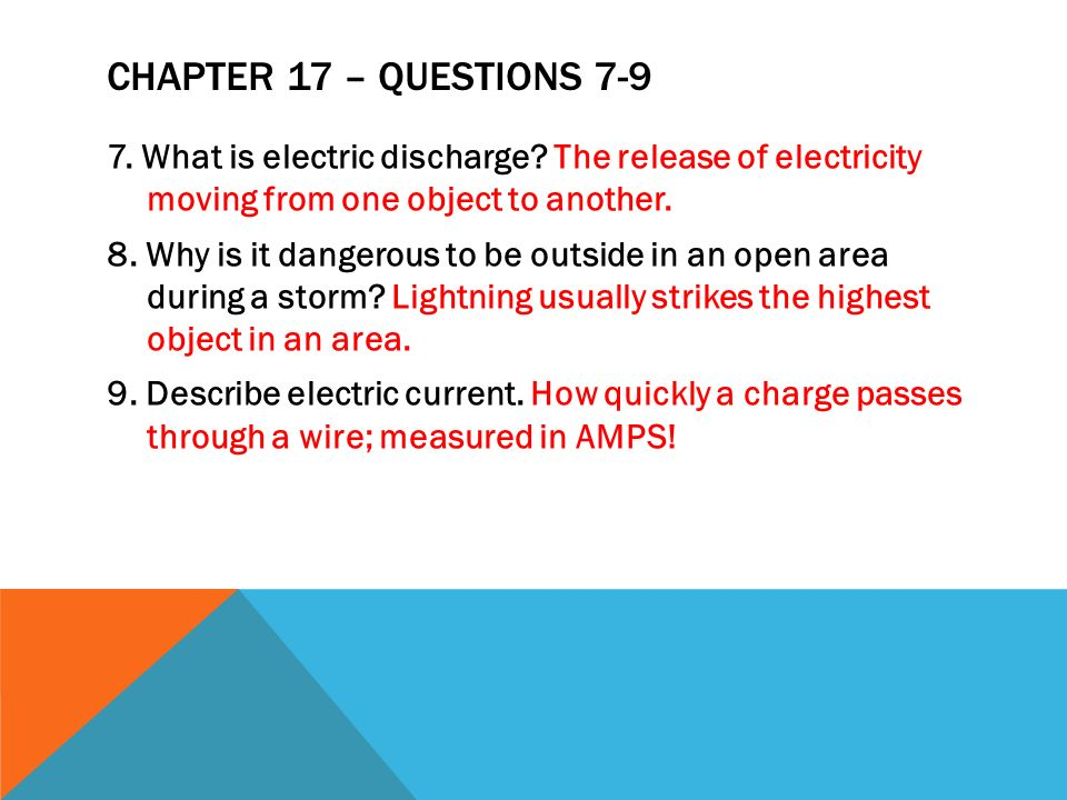 Chapter 17 – Questions 7-9