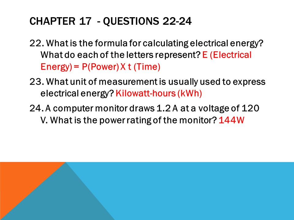 Chapter 17 - Questions 22-24