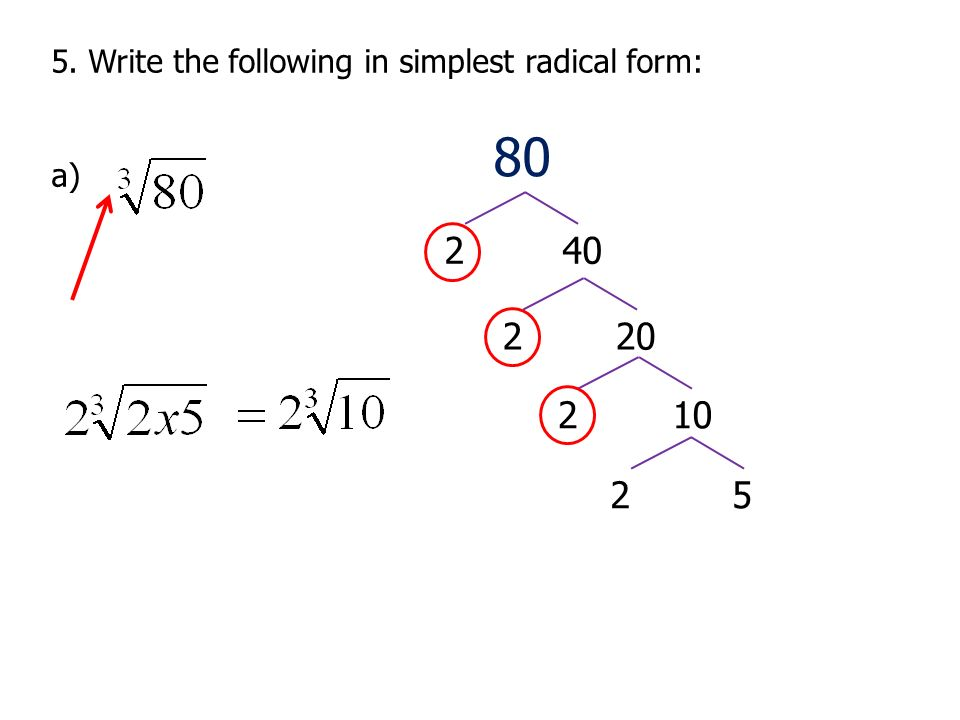 Chapter 4 Review Radicals/Exponents. - ppt download