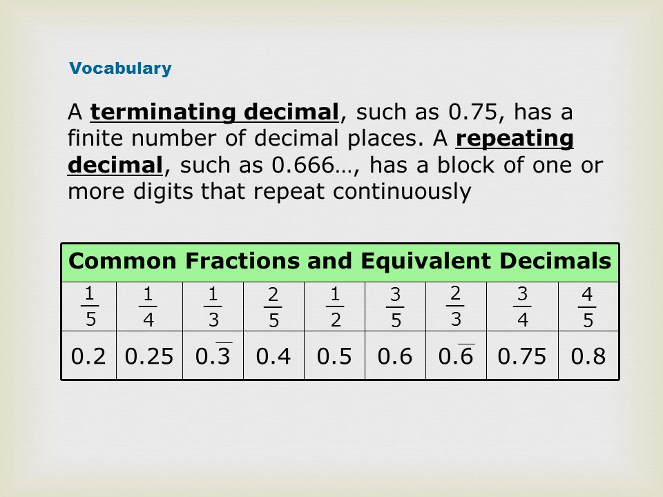 Equivalent Fractions, Decimals and Fractions - ppt video online ...