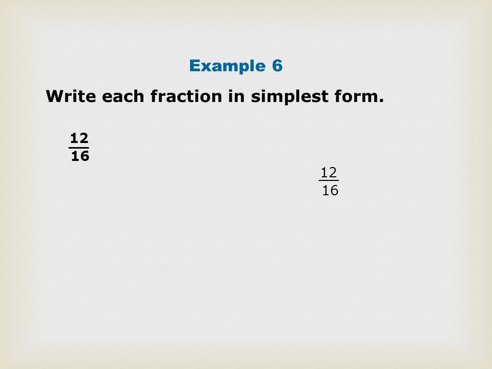 write each individual petite percentage on easiest form