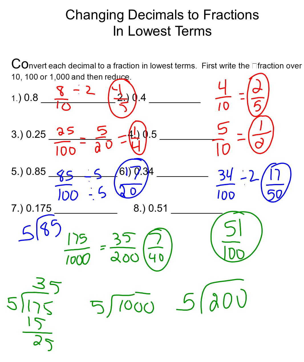 how to convert decimal fractions to Use this calculator to convert a repeating decimal to a fraction [fraction to recurring decimal calculator] ( /show/calculator/fraction-to-recurring-decimal) is also available.