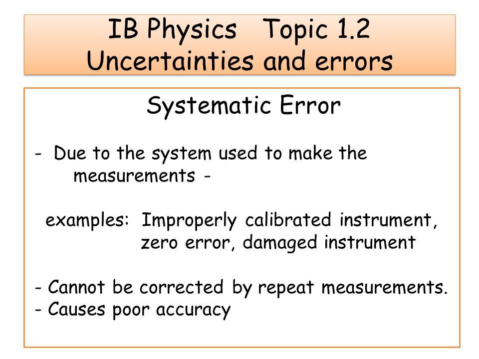 Errors Uncertainties And Measurements Homework Help Pppaperghlm