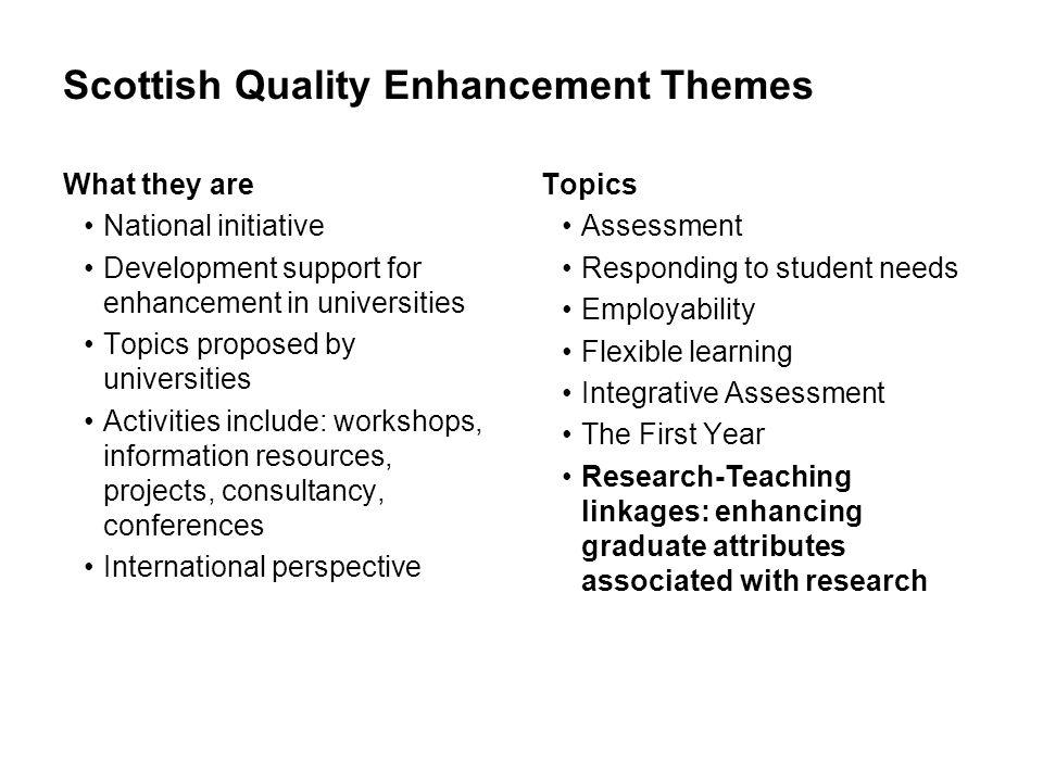 Scottish Quality Enhancement Themes